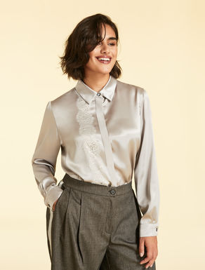 Silk satin shirt