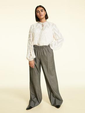 Pantalon en laine et soie