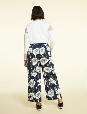 Printed faille trousers