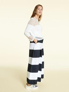 Hose aus gestreifter Baumwolle