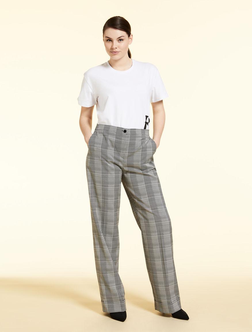 Jacquard palazzo trousers