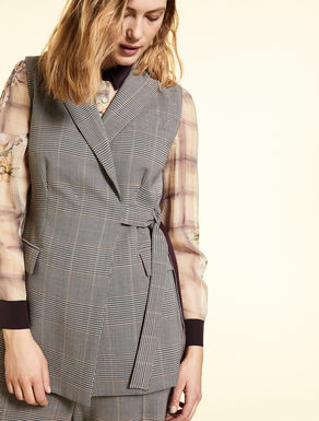 Stretch wool gilet