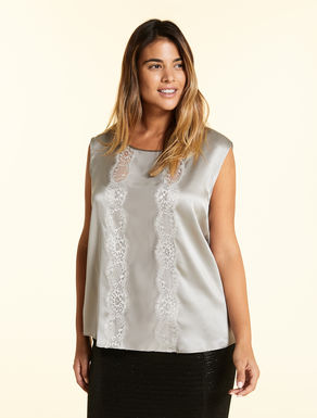 Top en satin de soie