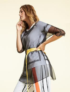 Silk organza tunic