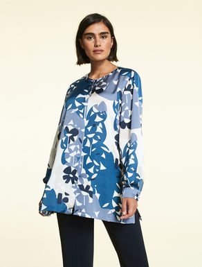 Printed satin shirt