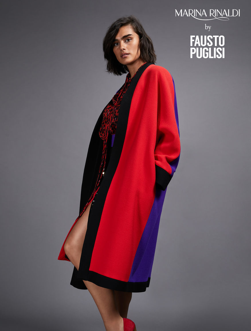 Pure wool crepe duster coat
