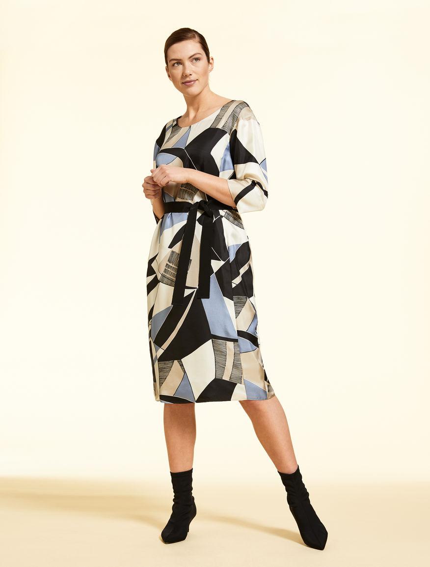 Seidentwill-Kleid