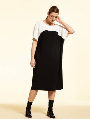 Two-tone triacetate dress