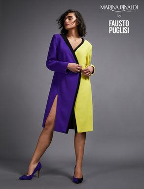 Vestido en crepé de pura lana