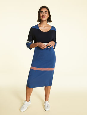 Viscose and nylon dress