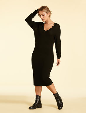 Crepe knit dress