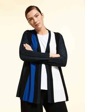 Cardigan en viscose opaque