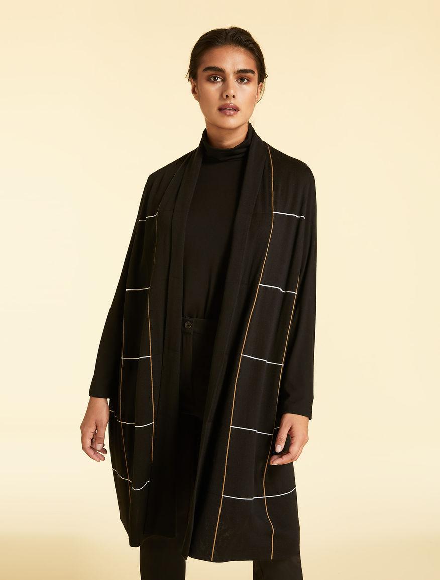 Wool-blend jacquard gilet