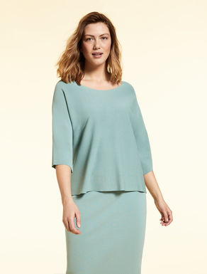 Cropped viscose-blend jumper