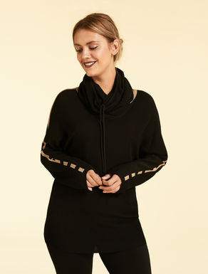 Viscose and nylon crepe jumper