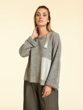 Alpaca and lurex jumper