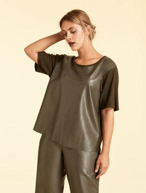 Camiseta en napa y punto