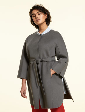 Double-layer cashmere and wool coat