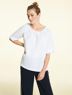 Cotton piqué blouse