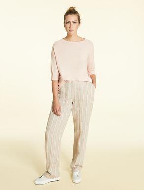 Pantalon en lin et coton