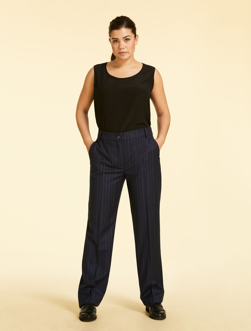 Stretch flannel trousers