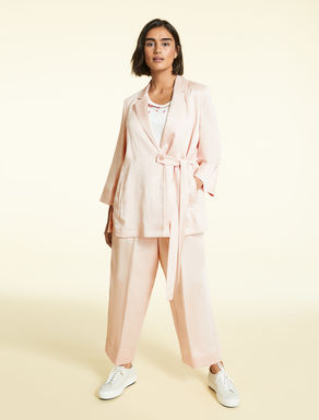 Satin linen and viscose jacket