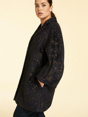 Jacquard chenille coat