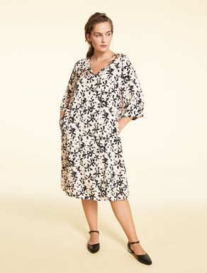 Viscose and cupro dress