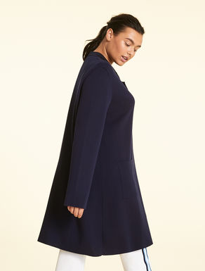 Cotton and viscose long cardigan