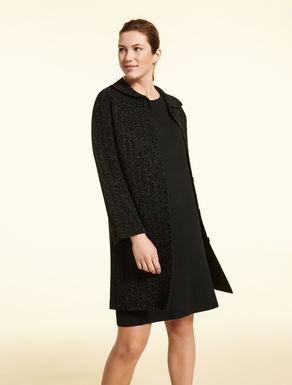 Lurex knit duster coat