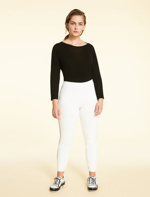Viscose knit trousers
