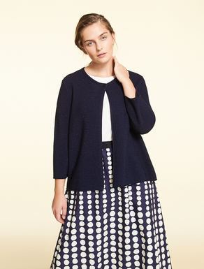 Cotton and Lurex cardigan