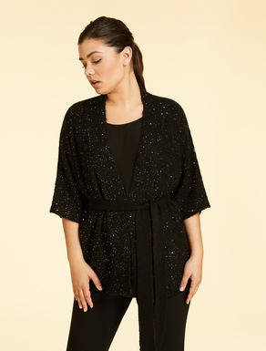 Cardigan in mohair e paillettes