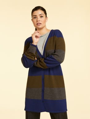 Long pure wool cardigan