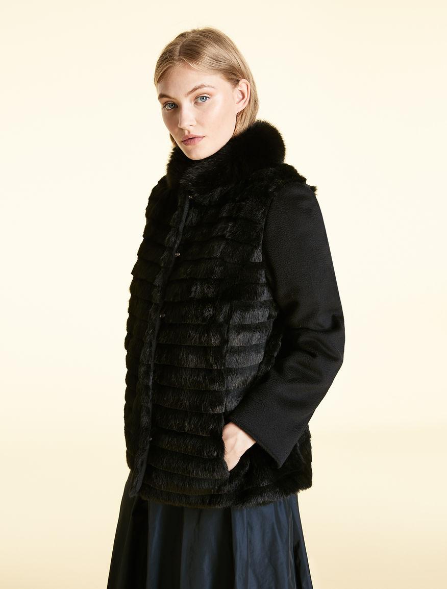 Zibeline broadcloth and rabbit jacket