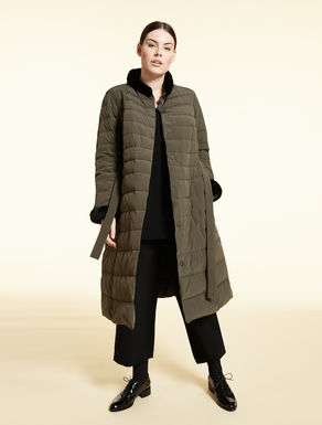 Technical fabric down coat