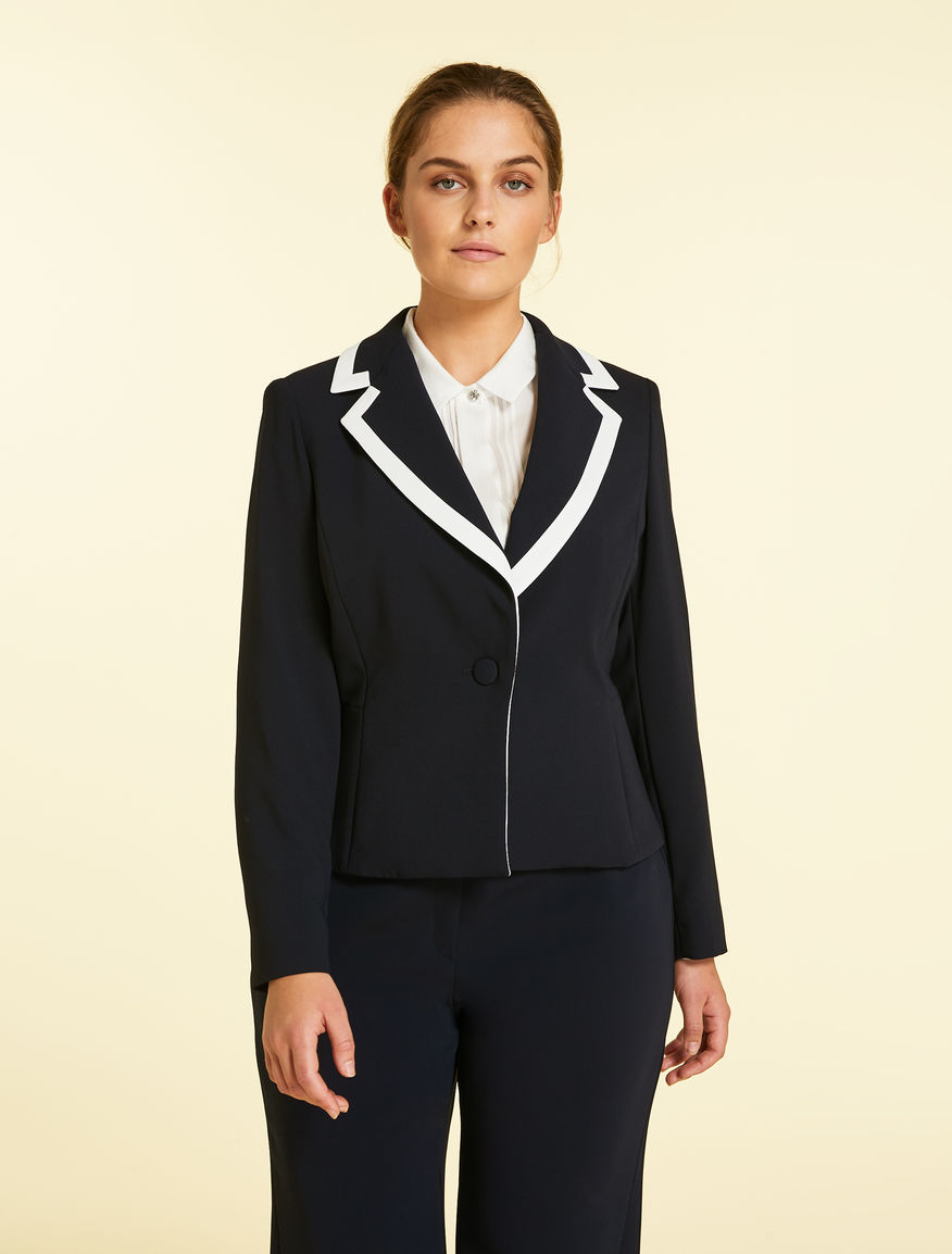 Envers satin crêpe jacket