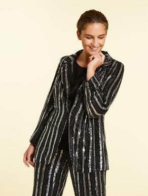 Georgette jacket with sequins