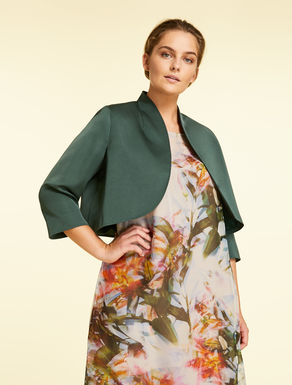Bolero jacket in duchess satin