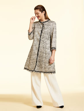 Boucle lurex duster coat