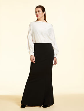 Long crepe skirt