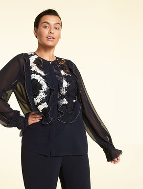 Georgette and lace shirt