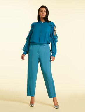 Pantalon en tissu frisottino