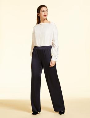 Pantalon palazzo en tricotine