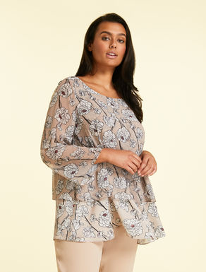Georgette and satin tunic