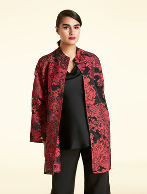 Fil coupe jacquard duster coat