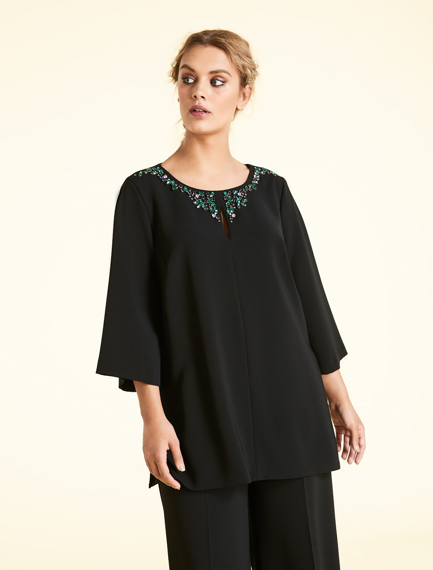 Triacetate chaton tunic