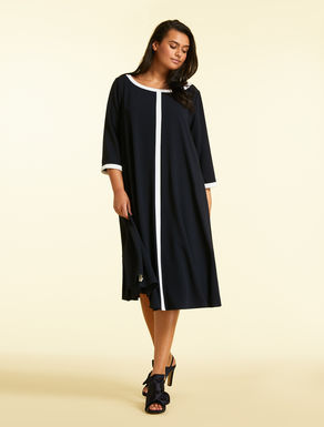 Robe en crêpe envers satin