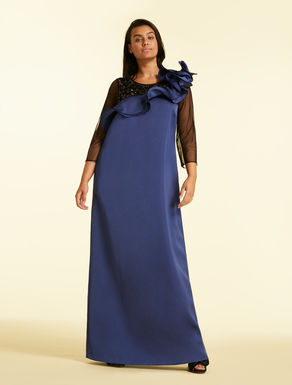 Long duchess satin dress