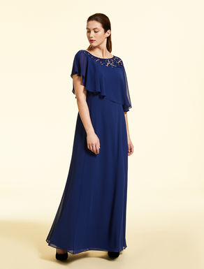 Langes Georgette-Kleid